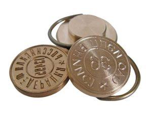 Металлические печати – по эскизу