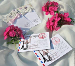 Свадебные приглашения со штампами