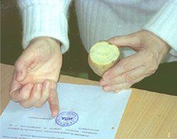 печать поставленная картошкой