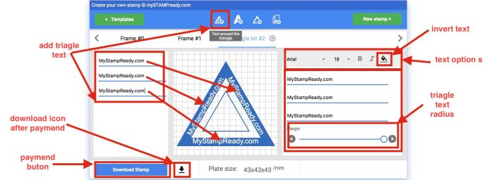 triangular stamp maker online