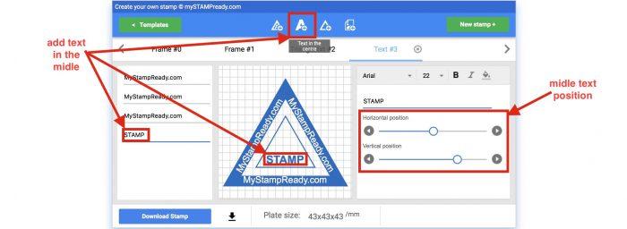 create triangular stamp online