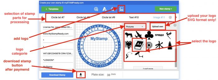 add logo in your stamp