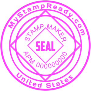 Online seal maker help you to order rubber stamp layout for 2.5 dollars only