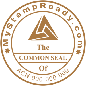 Wedding seal with the logo on the top you can download by stamp constructor from MyStampReady