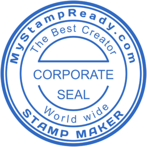 Custom seal created with the stamp designer from MyStampReady team