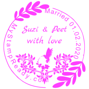 Custom made stamp for wedding for 2,5 dollar only by MyStampReady