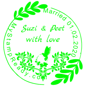 Wedding married stamp created with the stamp maker online from MyStampReady