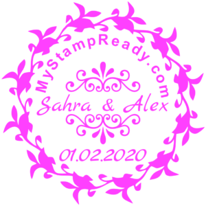Wedding seal from Sahra and Alex created with the stamp maker online