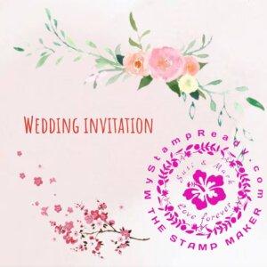 wedding stamp for invitation