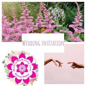 invitation with wedding stamp