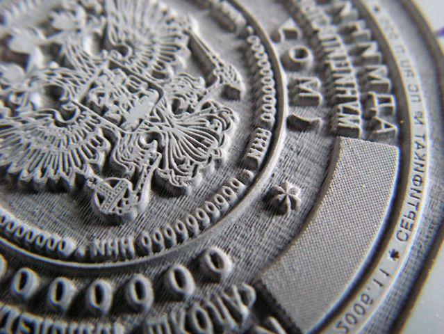 Изготовление печатей и штампов методом лазерной гравировки.